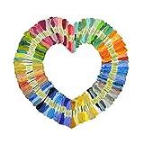 Ligero 50 Colores/Set de Punto de Cruz Bordado DIY Hilo Hilo Kit del Hilo de Coser Conjunto Bordado de Hilo Dental Herramientas DIY Kit de Costura Conveniencia (Color : Multi-Colored)