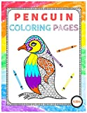 PENGUIN COLORING PAGES: Cute cartoon Penguin Coloring pages for kids activity and Adults Stress-relief
