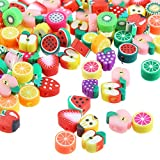 Best Beads Mixes - Jmzothie 120pcs Fruit Polymer Clay Beads, Assorted Mix Review