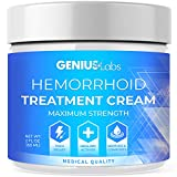 Genius Hemorrhoid Cream, Hemorrhoid Treatment, Hemorrhoid & Fissure Ointment, Fast Relief Hemorrhoid Cream Healing Formula, Hemorrhoid Symptom Ointment 2oz