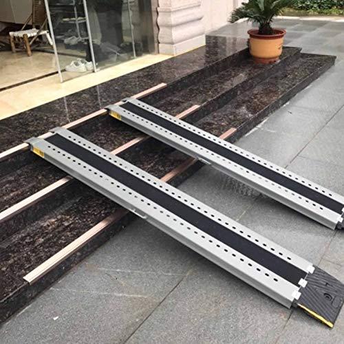 LLA Rampas Par De Rampas Portátiles con Manija, Escalones De La Puerta De Entrada Rampas Sin Barreras con Superficie Antideslizante, para Escaleras Interiores Y Exteriores (Size : 120×25×5cm)