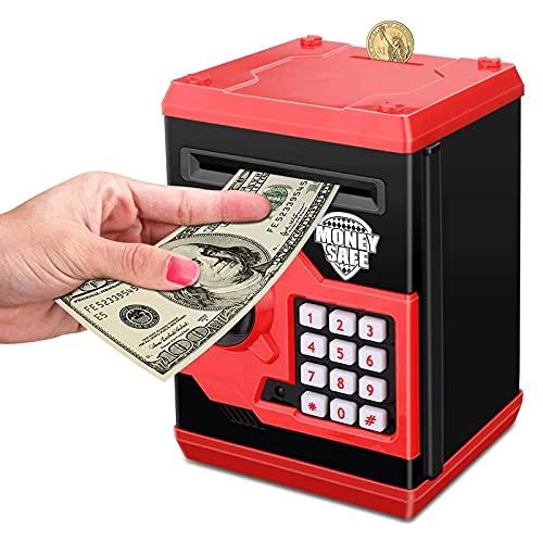 Hucha Money Safe Electronic Piggy Bank, Monedas de efectivo de cajeros automáticos, Caja de ahorro Mini Banco Caja de contraseña...