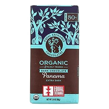 Equal Exchange Organic Panama Extra Dark Chocolate Bar Whole Trade Guarantee 2.8 Ounce Pack of 12
