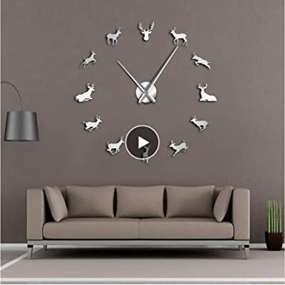 Fashion Wall Clock Creative Statue Of Liberty Shape Wall Sticker Clock M- Uhren & Schmuck