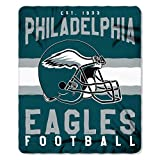 NFL Philadelphia Eagles Singular Fleece Throw, 50-inch by 60-inch, Green
