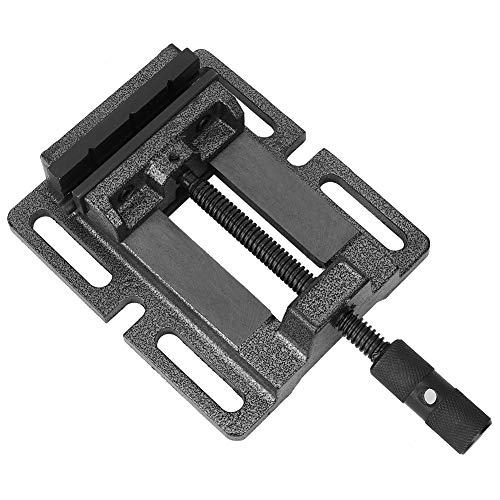 LFOZ Prensa abrazadera de tornillo alemán de alta precisión duradera de hierro fundido ranurado base manual Tool5in