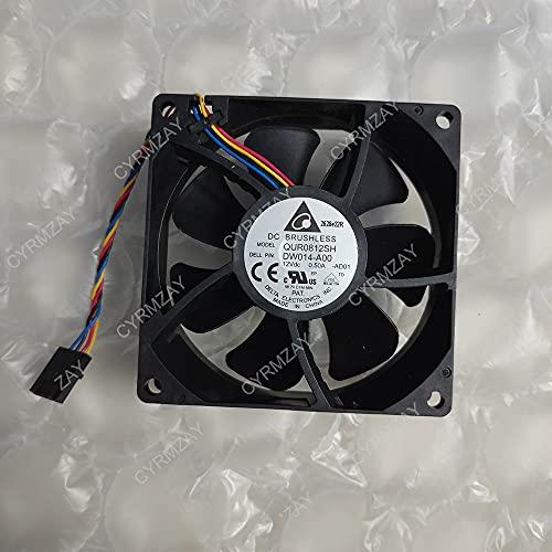 CYRMZAY QUR0812SH DS08025R12U 89R8J 8cm 80x80x25mm 80mm Ventilador 8025 12V 4-Line para DELL Chassis Server Ventilador
