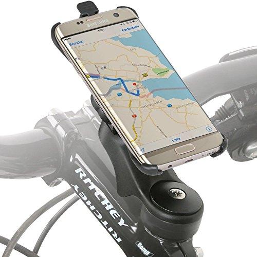 Wicked Chili Fahrradhalter Vorbau/Ahead Halter für Samsung Galaxy S7 Edge (G935F) (MTB/Rennrad, Made in Germany, QuickFix, 20% Carbon), S7 Edge Vorbau Halterung