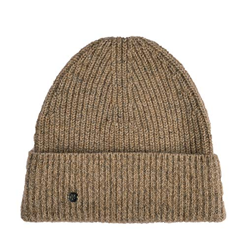 Hat, knitted, mohair, colour struct