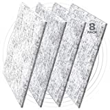 "Sound Sanctuary Sound Absorbing Acoustic Panels – 8-Pack, Light Gray, 0.60"" Thick, Ultra High Density Noise Dampening, No VOCs, 12' x 12' with Chamfer Edge. Studio Quality Sound Proof Wall Panel"
