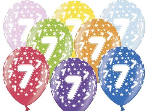 Luftballon 7.Geburtstag bunt gemischt Partydeko