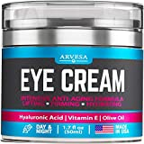 Premium Eye Cream for Women - Effective Under Eye Cream for Wrinkles with Retinol, Hyaluronic Acid, Vitamin E, Aloe Vera - Anti Aging Cream for Dark Circles, Under Eye Bags and Puffiness