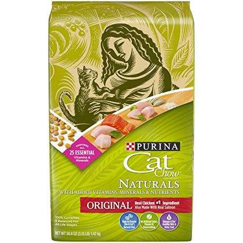 Purina Cat Chow Natural Dry Cat Food, Naturals Original - (4) 3.15 lb. Bags
