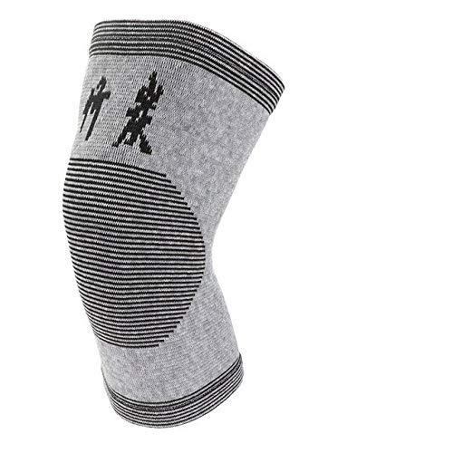YUXIN Zhaochen Knieschützer 1 Stück Set Beingelenkverletzung Fitness Sleeve Elastic Bandage Knieschützer Charcoal gestrickte Knieschützer warm zu halten (Color : Dark Gray, Size : M)