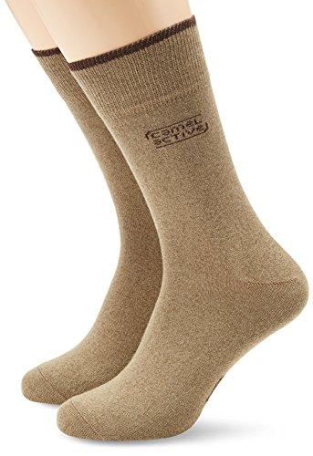 camel active Herren Socke 2 er Pack 6590 cotton basic 2 pack, Gr. 39-42, Braun (earth brown - 798)