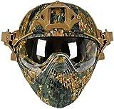 Casco PJ Tactical Fast, casco di sicurezza per pilota, casco da paintball softair con masc...