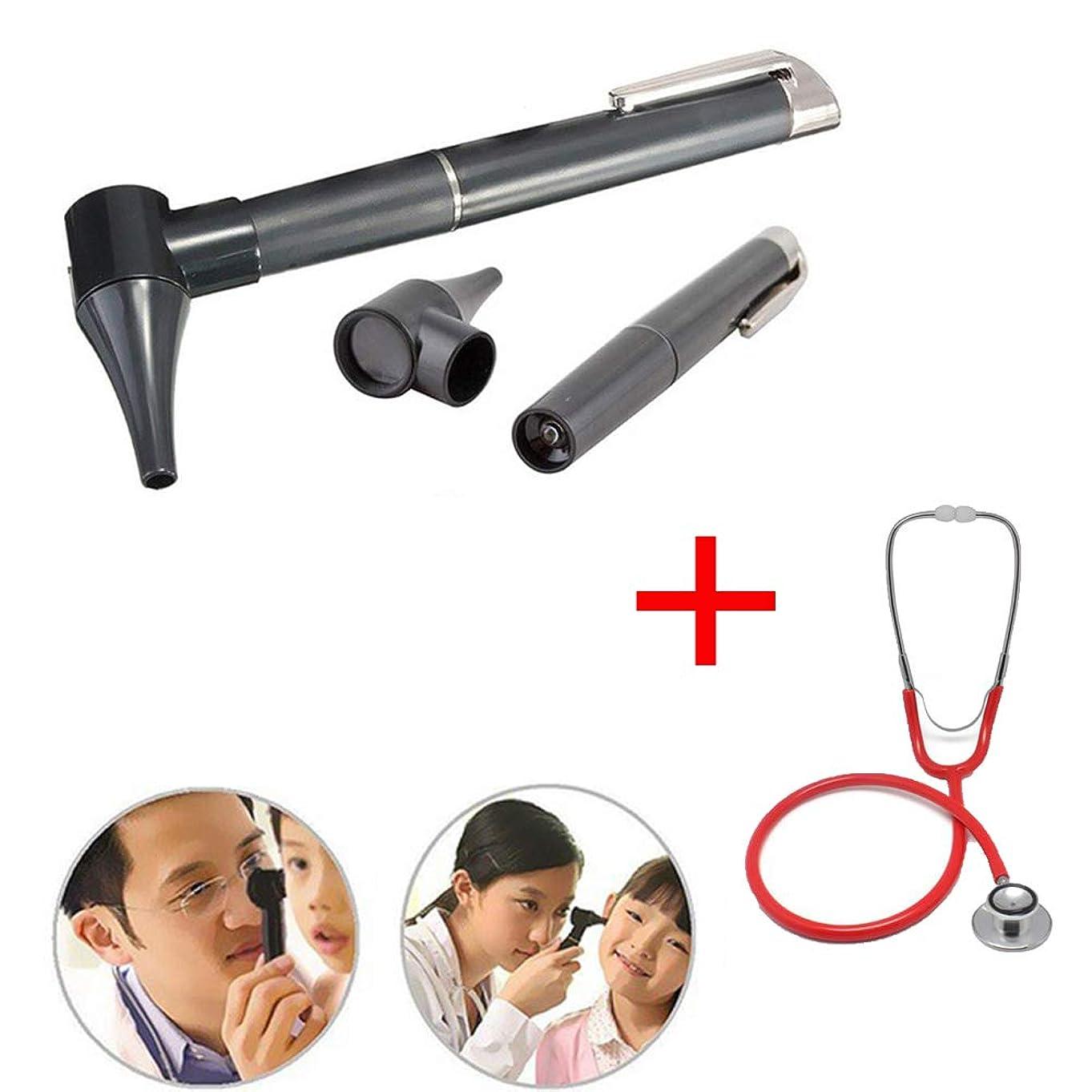 ノイズにもかかわらずねばねばLEDライト診断ペン付きミニオルトスコーププロフェッショナル人間と獣医の耳鼻咽喉科医療用品