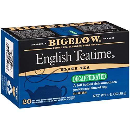 Bigelow Decaffeinated English Teatime, Black Tea Bags, 20 Count Box (Pack of 6), Decaf Black Tea, 120 Tea Bags Total