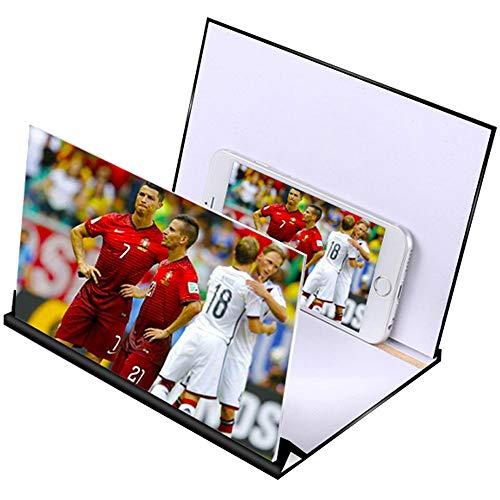 3Dスクリーンアンプ拡大鏡 すべてのスマートフォンのための折り畳み式スタンドフィットして携帯電話の画面拡大鏡、3D HDモバイル拡大鏡、電話での作品プロジェクター
