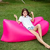 ONETWO Outdoor Collapsible Air Sofa,Portable Double Inflatable Air Lounger Air Sofa Hammock for Beach Park