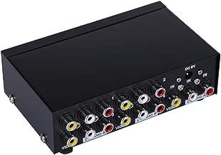 E-SDS 1 in 4 Out 3 RCA Splitter,Composite Video L/R Audio AV Splitter for Cable Box DVD DVR Analog TV