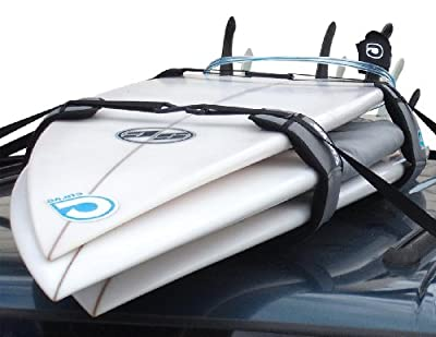 Curve Surfboard Soft Rack Lockdown Premium Surfboard Car Racks (Set of 2)