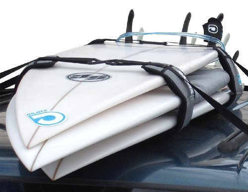 Curve Surfboard Soft Rack Lockdown Premium Surfboard Car Racks (Set of 2)