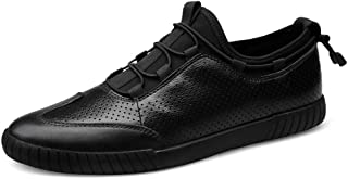 ZUAN Acrobatic Shoes Men Fashion Casual Sports Shoes Lace Up Style OX Leather Youth Trend with Breathable Empty Vamp