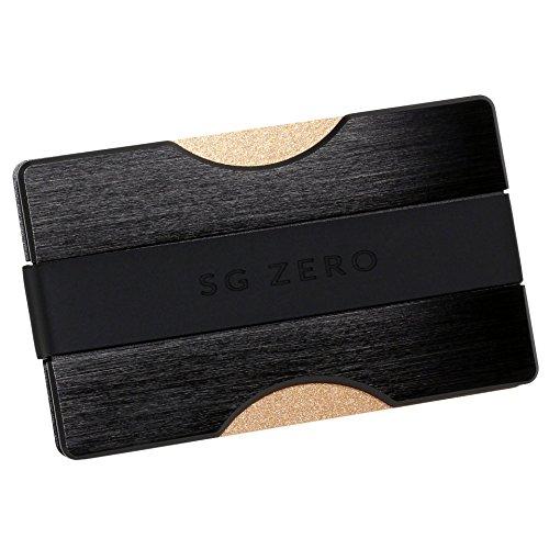 Herren Kreditkartenetui mit Geldklammer und Münzfach aus Aluminium - Geldbeutel mit RFID Schutz für 1-12 Karten, Schlichtes Slim Wallet for Men