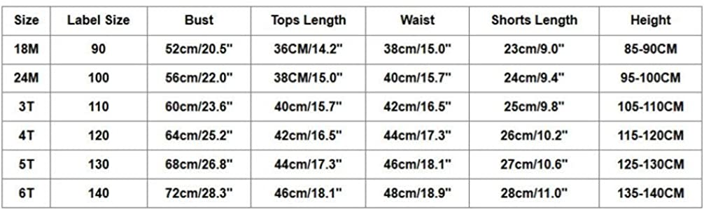Sport Shorts Kehen Kids Toddler Baby Girl Summer Clothes Casual Outfit Short Sleeve Watermelon T-Shirt Hi-Low Top