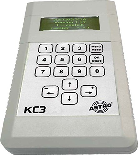 Astro KC3 Fernbedienung Verkabelt SAT Drucktasten - Fernbedienungen (SAT, Verkabelt, Drucktasten, Eingebaute Anzeige, Grau)