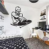 JFZJFZ Pegatinas de pared música DJ vinilo pared calcomanía para dormitorio sala de estar decoración del hogar pegatinas de arte 50x50cm