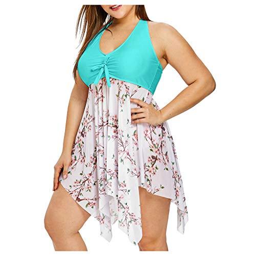 YANFANG Sexy Bikini Sets Mujer Ropa De BañO,Traje BañO con Estampado para Traje Sujetador Relleno Dos Piezas Playa,Tangas Algodon Mujer,Azul,Rosa,Morado,XL,XXL,3XL,4XL,5XL