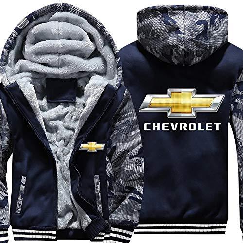 guonan Verdicken Plus Samt Hoodie Chevrolet Drucken Strickjacke Männer&Frauen Warm Jacke Sweatshirt Sweatshirt Beiläufig/A/M