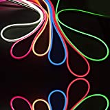 striscia led new generation flex ribon neon flessibile 12V luce esterni giardino IP65 terrazzo tubo natale strip
