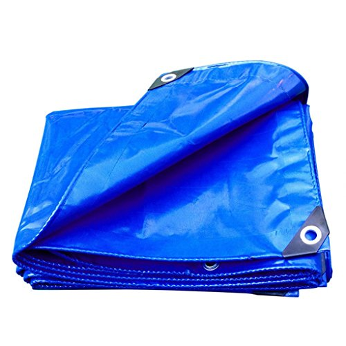 SSHA Lona resistente para exteriores de lona de 450 g/m², color azul, de 0,35 mm, 450 g/m², resistente (tamaño: 3 MX6 M)