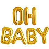 Tellpet OH BABY Letter Balloons, Baby Shower...