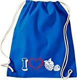 Camiseta stown Turn Bolsa Fruta I Love Color Morado, azul cobalto