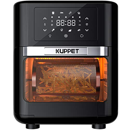 KUPPET Air Fryer Oven, 10.7 Quarts Air Fryer, Rotisserie Oven, 8-in-1 Countertop Oven with...