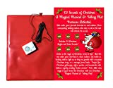 Christmas Doormat -12 Musical Sounds of Christmas with 6 Awesome Santa Sounds and 6 Famous Christmas Musical Jingles-Hide This Pressure Sensitive Doormat for Holiday Fun-Kids Love It-Very Cute