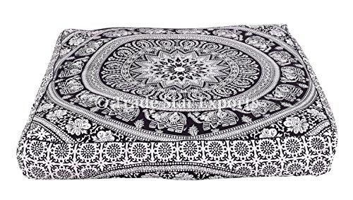 Cuscino indiano grande pavimento in cuscino, cuscino quadrato Mandala, cuscino meditazione, cuscino decorativo sham, cuscini hippie Pattern1