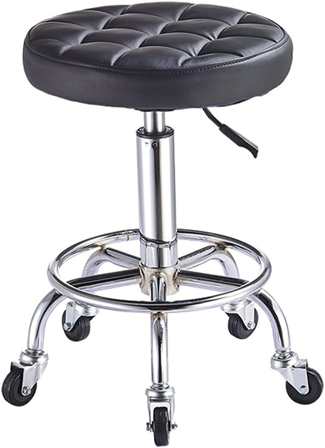 Rolling Swivel Stool Pneumatic Work Chair Adjustable Height with Casters Wheel 360 Degree redation for Home Office Salon Facial Massage Table (color   5)