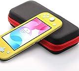 2020 Neue Tragetasche für Nintendo Switch Lite, 20 Spielekassetten, Schutzhülle für Hartschalen für Nintendo Switch Lite-Konsole und Zubehör, Rot.