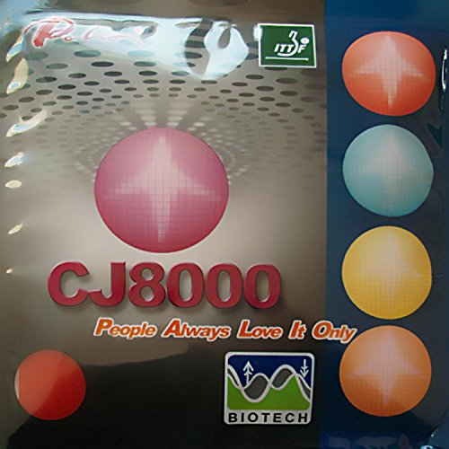 Purchase Palio CJ8000 BIOTECH (H36-38, 2-Side Loop Type) Pips-in Table Tennis (Ping Pong) Rubber with Sponge (Black, 2.2mm)