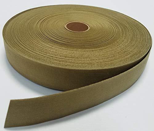 1 Yard - MIL SPEC 1.5' Elastic Webbing/MOLLE Webbing - Coyote TAN