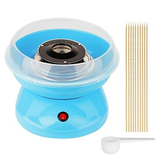 Zucchero filato Macchina per casa macchina per bambini zucchero filato dispositivo Maker 500 W con zucchero cucchiaio e 10 Bastoncini Blau
