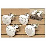 BOLTZE M�belgriff Hearts 4er Set 4x6cm Keramik