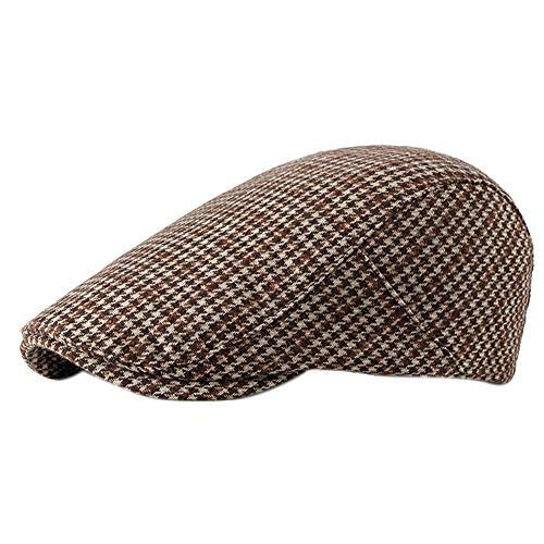 Leisial Sombreros Gorras Boinas Gorra de Béisbol Ocio Retro Clásico del Algodón Gorra de Deport Hat Flat Cap Primavera Verano para Hombre Beige