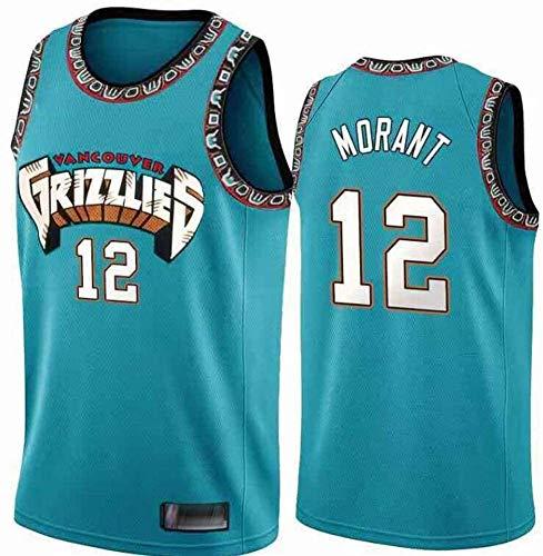Hombres Jersey Baloncesto - NBA Jersey Grizzlies ° 12 Mangas Transpirable Morant Fitness Deportivo Camisetas Aficionados Uniforme de Baloncesto (M(175cm/65-75kg))
