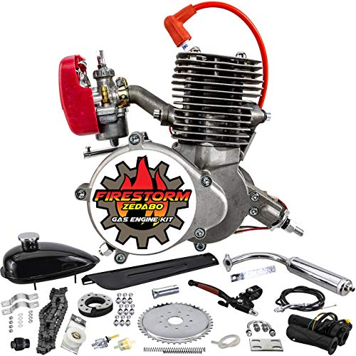 Zeda 100 Complete 80cc/100cc Bicycle Engine Kit - Firestorm Edition 50 Tooth